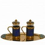 Art. 401 ampolle in smalto e ottone dorato